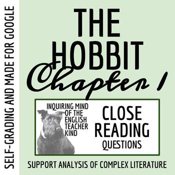 The Hobbit Close Reading Worksheet Chapter 1 Tpt