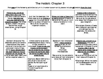 The Hobbit Chapter 3 Activities