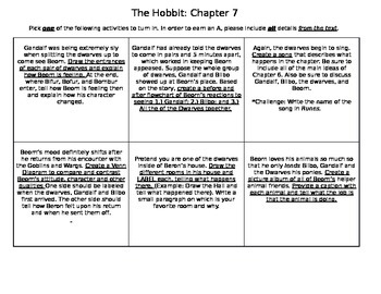 The Hobbit Chapter 7 Activities