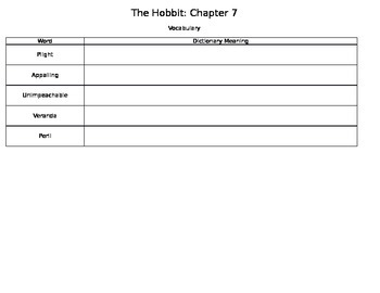 The Hobbit Chapter 7 Activities