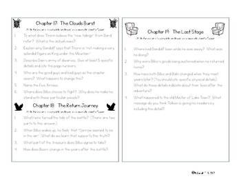 The Hobbit -- Close Reading Questions for Each Chapter