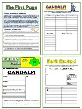The Hobbit - Comprehension Activities Booklet!