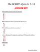 The Hobbit Comprehension Quiz ch. 7-12 & Answer Key