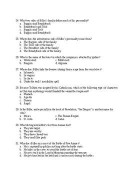 The Hobbit Exam