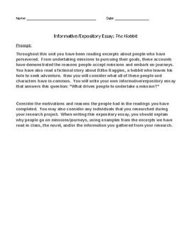 The Hobbit Informative/Expository Essay