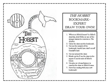 The Hobbit Interactive Bookmark Activity