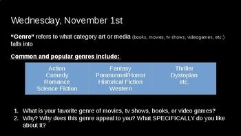 The Hobbit Intro Lesson: Non-Realistic Genre Exploration and Discussion