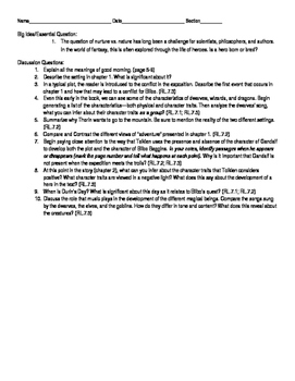 The Hobbit Novel Guide Chapters 1-4