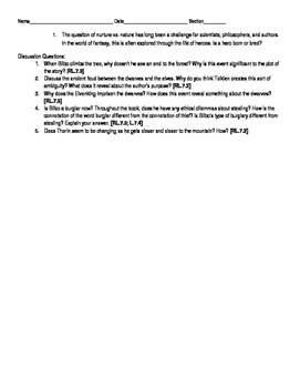 The Hobbit Novel Guide Chapters 8-11