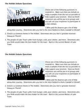 The Hobbit Novel Study