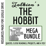 The Hobbit Mega-Bundle: Quizzes, Test, Project, Guide, Keys, and More