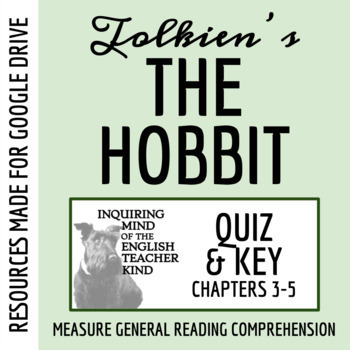 The Hobbit Quiz: Chapters 3, 4, and 5