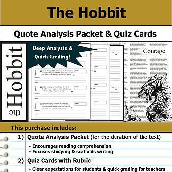 The Hobbit - Quote Analysis & Reading Quizzes