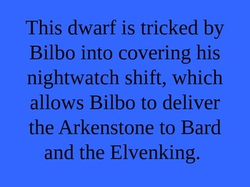 The Hobbit Review Jeopardy PowerPoint Game