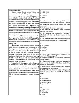 The Hobbit SAT Writing Test Practice