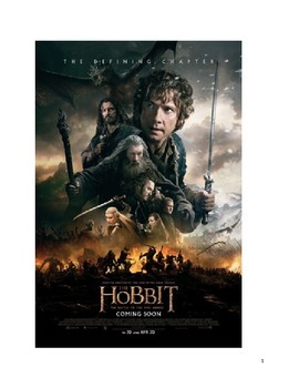 The Hobbit Summary, Lesson Plan template, Test/answer key,
