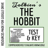 The Hobbit Test & Answer Key (Word Document, Google Document & PDF)