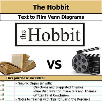 The Hobbit - Text to Film Venn Diagram & Written Conclusion