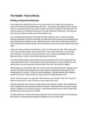 The Hobbit:  Text to Movie    Writing a Compare/Contrast Paper