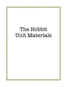 The Hobbit Unit Materials