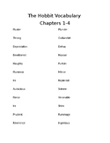 The Hobbit Vocabulary Chapters 1-4
