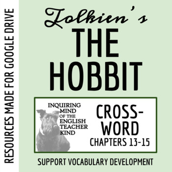 The Hobbit Vocabulary Crossword Puzzle (Chapters 13-15)