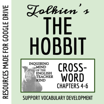 The Hobbit Vocabulary Crossword Puzzle (Chapters 4-6)