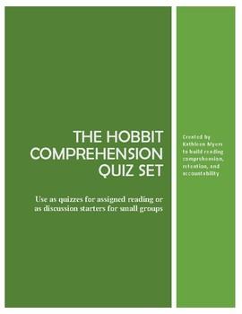 The Hobbit by J.R.R. Tolkien Quiz/Discussion Set