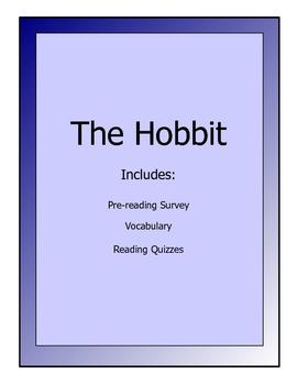 The Hobbit novel lesson packet - reading quizzes, vocabulary, activity