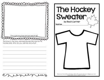 The Hockey Sweater Text to Self Connections Perfect for Canadian Teachers!