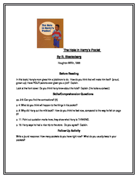 The Hole in Harry's Pocket for Guided Reading (Houghton Mifflin)