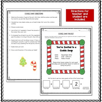 The Holiday Cookie Swap: A Stress-Free Math Project for Upper Elementary