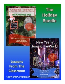 Holidays Informational Text Close Reading and Writing Bundle