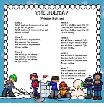 The Holiday-Song About Time Off From School (Winter Edition)-SMNTBK Ed.