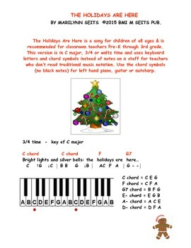 The Holidays Are Here - children's song about fun during the holidays