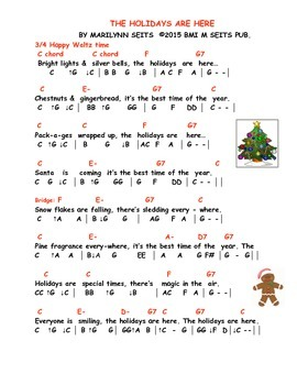 The Holidays Are Here - Children's song about fun during the December holidays.