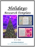 The Holidays Research Template EDITABLE