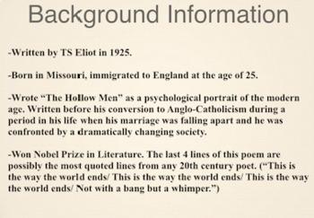 ts eliot the hollow men summary