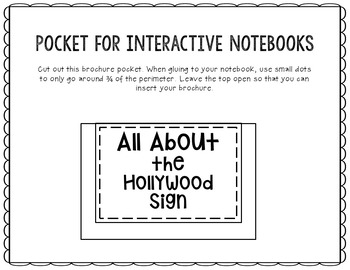 The Hollywood Sign Research Project Brochure Template, Geography, History