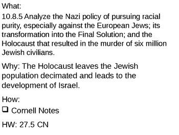 The Holocaust - 27.5 Powerpoint - World War II