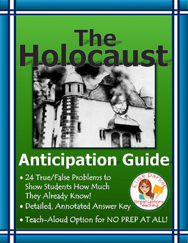 The Holocaust: Anticipation Guide / Anticipatory Set