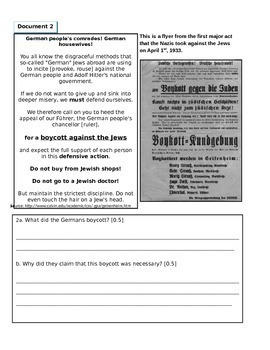 DBQ: The Holocaust, Genocide, and Human Rights (DISTANCE LEARNING +)