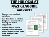 The Holocaust - Nazi Genocide worksheet