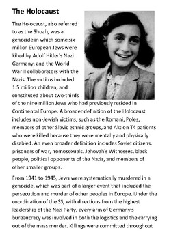 The Holocaust Handout