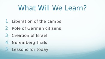 The Holocaust Healing PowerPoint Lecture