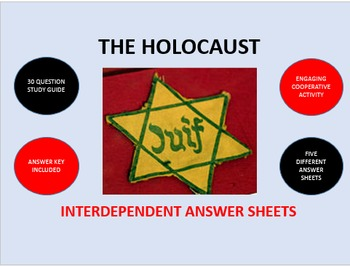The Holocaust: Interdependent Answer Sheets Activity