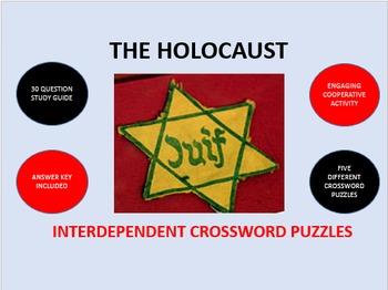 The Holocaust: Interdependent Crossword Puzzles Activity