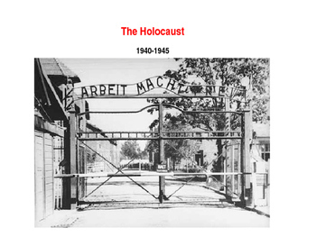 The Holocaust PowerPoint and Guided Notes Sheet