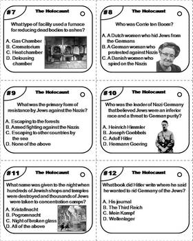 The Holocaust Task Cards