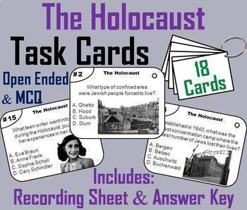 The Holocaust Task Cards and Activities Bundle